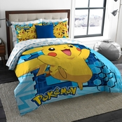 Northwest Pokemon Big Pika Twin/Full Bedding Set
