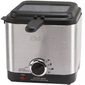 Oster 1.5 Liter Compact Stainless Steel Deep Fryer