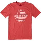 Life is Good Crusher Land of the Free Tee