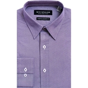 Nick Graham Modern Fitted Performance Stretch Micro Dot Print Dress Shirt