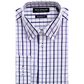 Nick Graham Modern Fitted Windowpane Dress Shirt