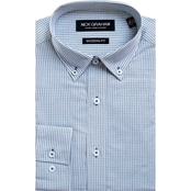 Nick Graham Modern Fitted Mini Check Dress Shirt