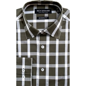 Nick Graham Modern Fitted Buffalo Check Dress Shirt
