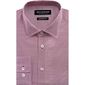 Nick Graham Modern Fit Performance Stretch Micro Dot Print Dress Shirt