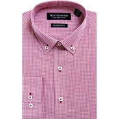 Nick Graham Modern Fit Mini Check Dress Shirt
