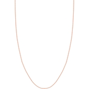 14K Rose Gold 1.05mm Diamond Cut Rope Chain