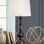 Signature Design by Ashley Aadi Metal Table Lamp, Antique Brass Finish, 2 pk.
