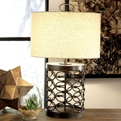 Signature Design by Ashley Aryan Metal Table Lamp, Black, Contemporary