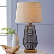 Signature Design by Ashley Artie Metal Table Lamp, Natural, Contemporary