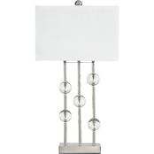 Signature Design by Ashley Jaala Metal Table Lamp, Clear/Silver, Contemporary