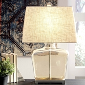 Signature Design by Ashley Janae Glass Table Lamp, Champagne, Contemporary