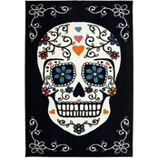 Mohawk Home Sugar Skull Rainbow Rug