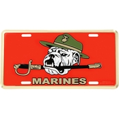 Mitchell Proffitt USMC Bulldog License Plate