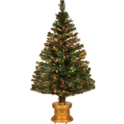 National Tree Company 48 In. Fiber Optic Evergreen Fireworks Gold Base