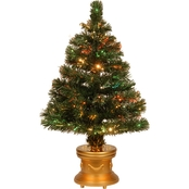 National Tree Company 36 In. Fiber Optic Radiance Fireworks Tree Gold Column Base