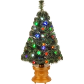 National Tree Company 36 In. Fiber Optic Evergreen Fireworks Tree