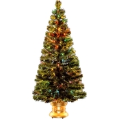 National Tree Company 60 In. Fiber Optic Radiance Fireworks Tree Gold Column Base