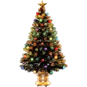 National Tree Company 48 In. Fiber Optic Fireworks Tree with Top Star
