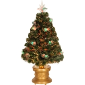 National Tree Company 36 In. Fiber Optic Fireworks Tree Double Bells Gold LED Base