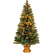 National Tree Company 60 In. Fiber Optic Evergreen Firework Tree With Gold Base
