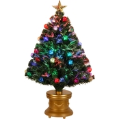 National Tree Company 36 In. Fiber Optic Fireworks Tree with Top Star