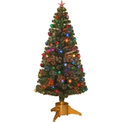 National Tree Company 72 In. Fiber Optic Fireworks Inner Ornament Tree Top Star