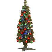 National Tree Company 36 In. Fiber Optic Fireworks Shiny Ornament Tree With LEDs