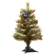 National Tree Company 20 In. Fiber Optic Spruce Tree