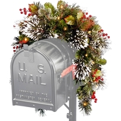 National Tree Company 36 in. Wintry Pine Mailbox Swag