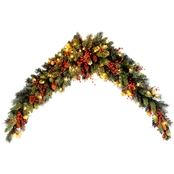 National Tree Company 6 Ft. Classical Collection Mantel Swag with Clear Lights