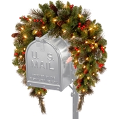 National Tree Company 36 in. Crestwood Spruce Mailbox Swag