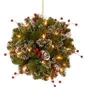 National Tree Company 12 In. Glittery Mountain Spruce Kissing Ball