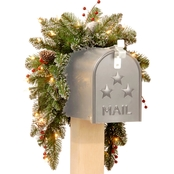 National Tree Company 36 In. Glittery Mountain Spruce Mailbox Swag