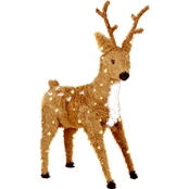 National Tree Company 36 in. Standing Reindeer with Clear Lights
