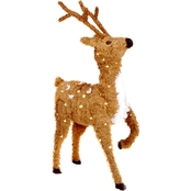National Tree Company 36 In. Prancing Reindeer with Clear Lights
