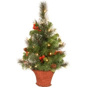 National Tree Company 3 Ft. Crestwood Spruce Half Tree