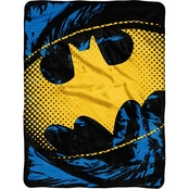 Northwest Batman Ripped Shield Micro Raschel Throw Blanket
