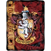 Northwest Harry Potter Battle Flag Micro Raschel Throw Blanket