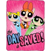 Northwest Powerpuff Girls Day Saved Micro Raschel Throw Blanket