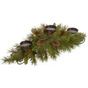 National Tree Co. 30 In. Pine Cone Centerpiece and Candle Holder