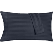 Charter Club Home Damask Stripe Supima Cotton 550 Thread Count  Pillowcase 2 pk.