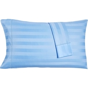 Charter Club Damask Stripe Supima Cotton 550-Thread Count Pair of Pillowcases