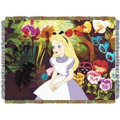 Northwest Alice in the Garden Woven Tapestry Throw