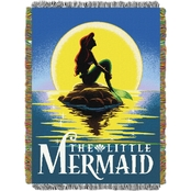 Northwest Ariel Little Mermaid Poster Woven Tapestry Throw