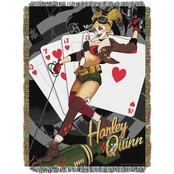 Northwest Batman Harley Queen Clown Woven Tapestry Throw