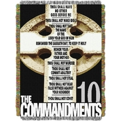Northwest Big Ten Commandments Woven Tapestry Throw