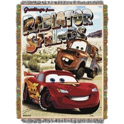 Northwest Cars Greetings Radiator Springs Woven Tapestry Throw