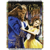 Northwest Disney Beauty and The Beast Ballroom Waltz Woven Tapestry Throw