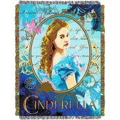 Northwest Disney Cinderella Kindness and Courage Woven Tapestry Throw