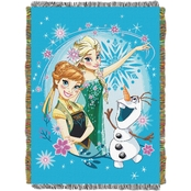 Northwest Disney Frozen Fever Woven Tapestry Throw